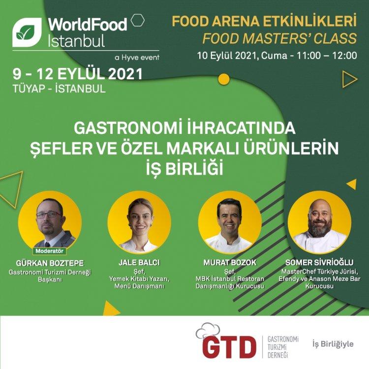 Gastronomi Turizmi Derneği Başkanı Gürkan Boztepe Moderatörlüğünde Gastronomi İhracatında Şefler ve Özel Markalı Ürünlerin İşBirliği WordlFood İstanbul'da Ünlü Şefler ile konuşuldu!